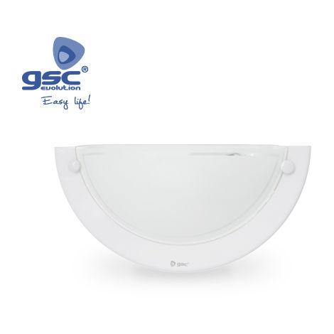 Aplique pared semicircular blanco E27 20W(60W)