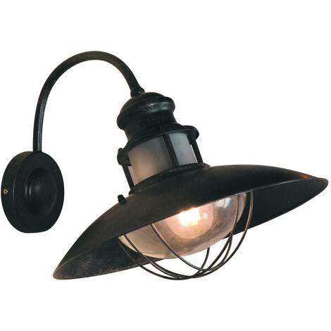 "Aplique pared vintage industrial ""COAL"" lámpara exterior E27"