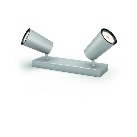 Aplique Philips Paisley Aluminio 2xGU10 [PH-8718696164655] | Sin Bombilla/Ver Accesorios (PH-8718696164655)