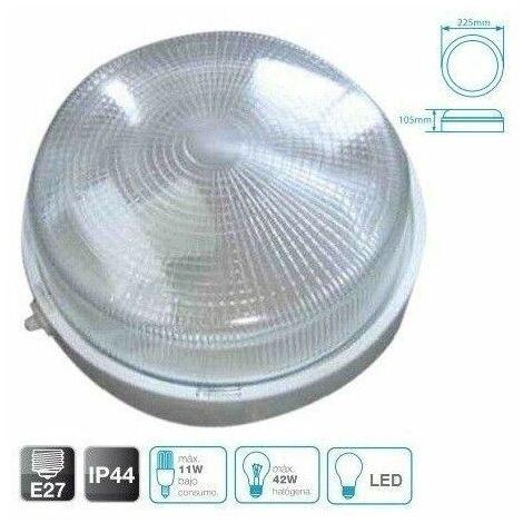 Aplique redondo grande de termoplástico BLANCO E27 GSC 0700648