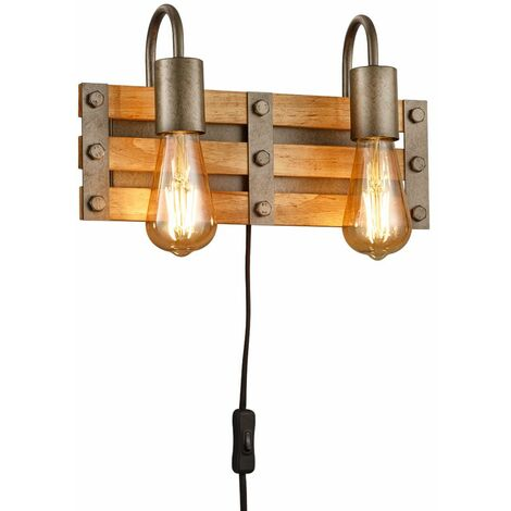 Aplique retro DIMMABLE sala de estar / dormitorio Lámpara de CONTROL REMOTO en un conjunto con iluminación LED RGB