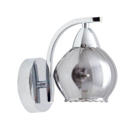 Aplique Smoky cromo/cristal 15X12X17