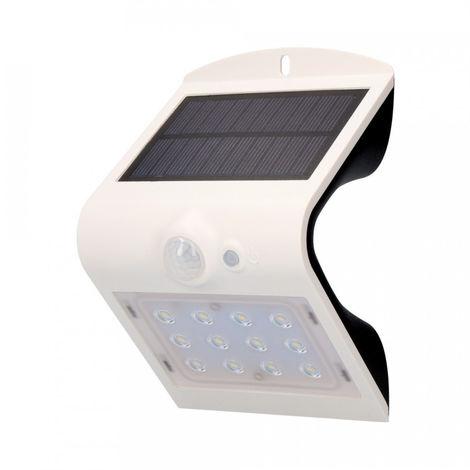 Aplique Solar 1,5W 220 Lumen Recargable Sensor De Presencia (2-6M) Color Blanco - NEOFERR