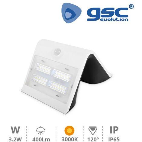Aplique solar con sensor 3,2W 3000K Blanco