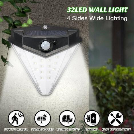 Aplique solar de pared triangular 32LED 800lm 2200mah captura de movimiento