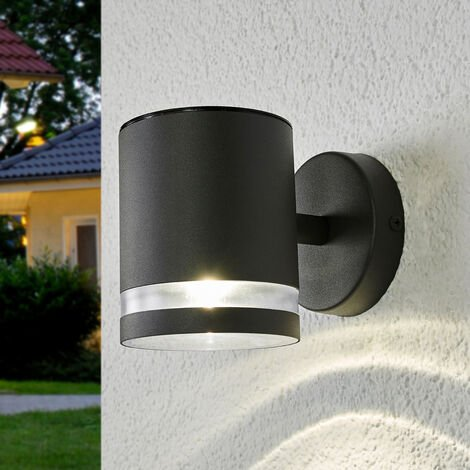 Aplique solar LED de pared exterior Melinda gris