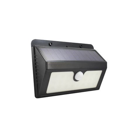 Aplique solar Led recargable con sensor 1,5W negro (Electro DH 81.775/N)
