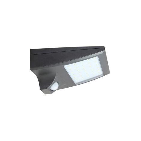 Aplique solar Led recargable con sensor 2W negro (Electro DH 81.776/N)
