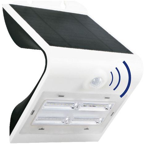 Aplique solar Led recargable con sensor y doble luz + 3 modos blanco 3,2W (F-Bright 2075001)