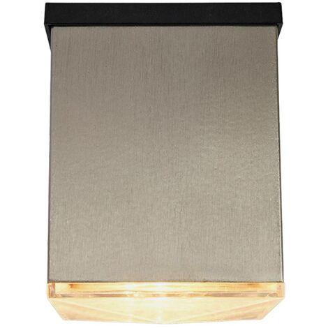Aplique solar LED Tyson angular claro