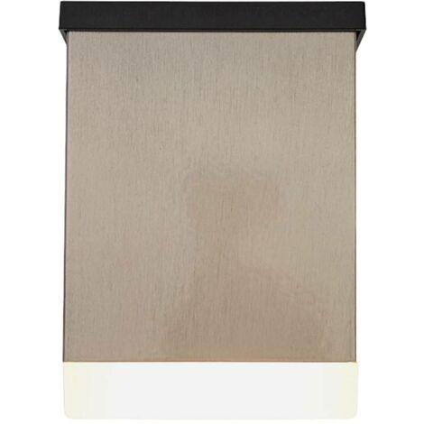 Aplique solar LED Tyson angular satinado