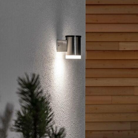 Aplique solar LED Tyson redondo satinado