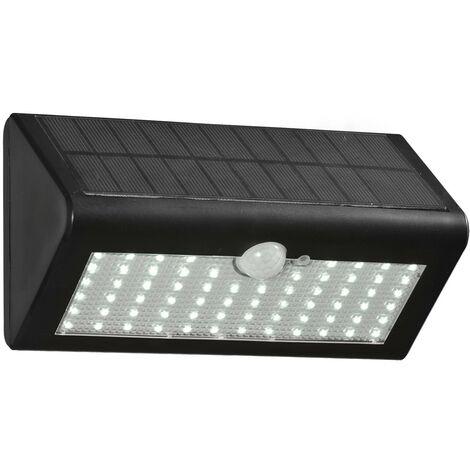 Aplique Solar Negro 1X6.6W LED