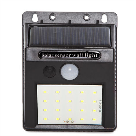 Aplique Solar Sensor 8W | Blanco Frío (GG-V680)