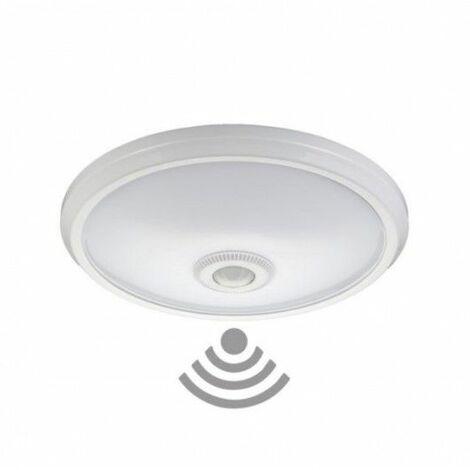 Plafon Circular Con Sensor 2Xe27 Ø30Cm Blanco Superficie Edm