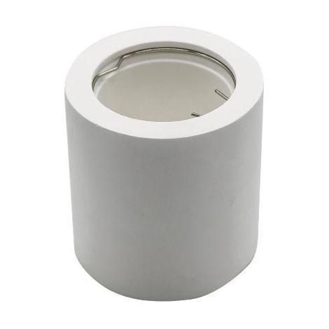 Aplique superficie para bombilla LED GU10 Cuadrado Blanco
