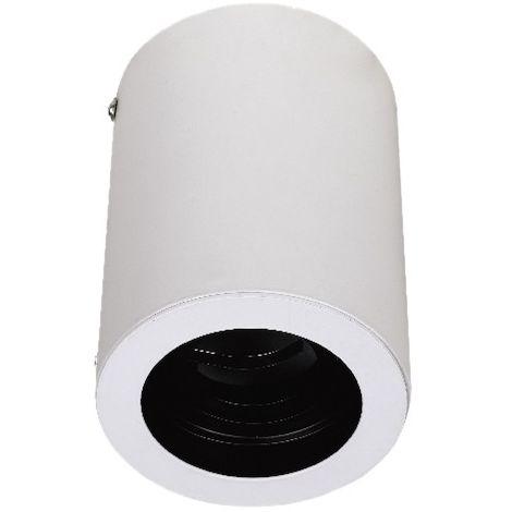 Aplique superficie para bombilla Led GU10 elegant design cilindro blanco