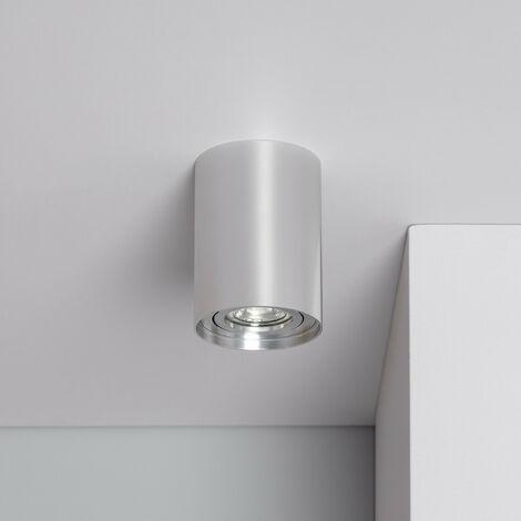 Aplique Techo Cuarzo Aluminio Plata Plata