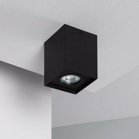 Aplique Techo Jaspe Aluminio Negro Negro - Negro