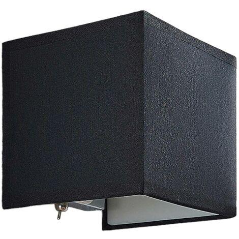 Aplique textil Adea con interruptor, 13 cm, negro