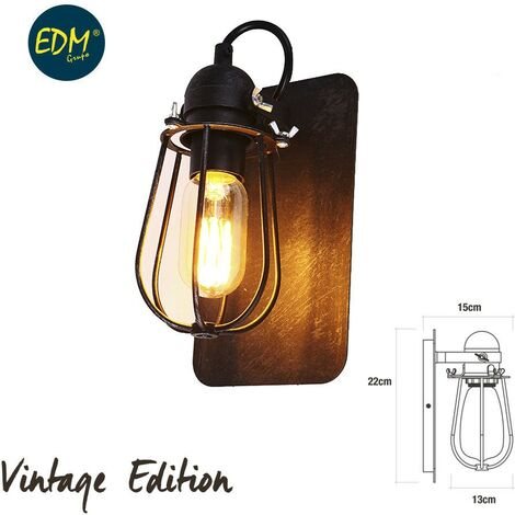 Aplique Vintage E27 60W - 22X13X15Cm