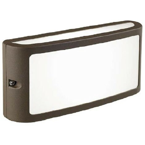 Apliques de exterior Sovil PANTALLA con LED de 10W 4000K Marrón 99500/27