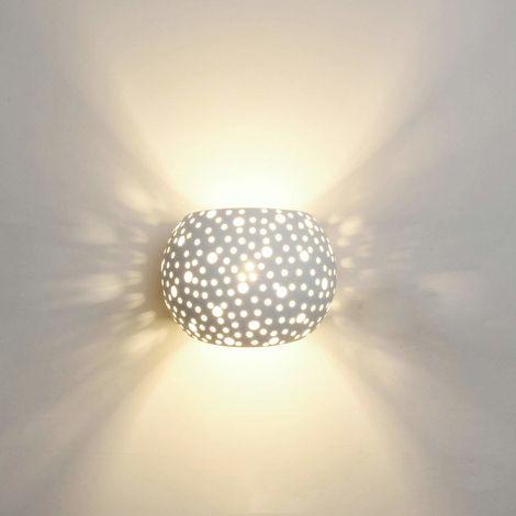 Apliques de pared con iluminación contemporánea de pared con 5W LED G9 Tipo de tapa Protección del medio ambiente natural Material de yeso Lámpara de pared con (Luz blanca)cálida
