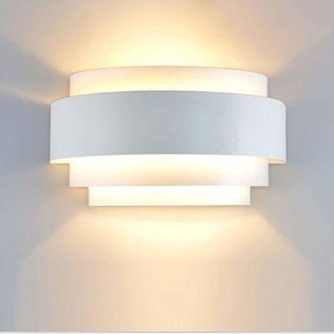 "main image of ""Apliques de Pared Led Moderna Lámpara de Pared Interior Iluminación (Blanco) para Dormitorio Cocina Comedor Restaurante Hotel Blanco Cálido"""