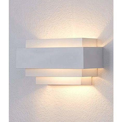 "main image of ""Apliques de Pared Moderna Led Lámpara de Pared Interior Iluminación (Blanco) para Dormitorio Cocina Comedor Restaurante Hotel Blanco Cálido"""
