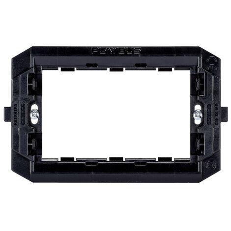 Apoyo Gewiss playbus placa de interruptor de 3 lugares GW32403