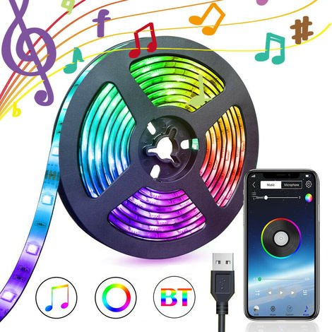 APP Controlled Adjustable Bright 5050 RGB 60LED bluetooth LED Strip Waterproof for Home Decoration Kitchen Wedding Party 3m