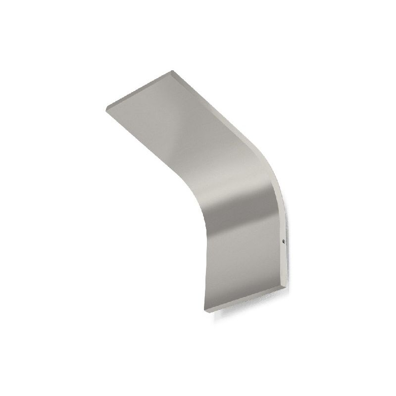 Homemania - App Wandleuchte - Applique - Silber aus Aluminium, 12 x 20 x 20 cm, 1 x LED, 18W, 1431lm, 3000K, 220-240V