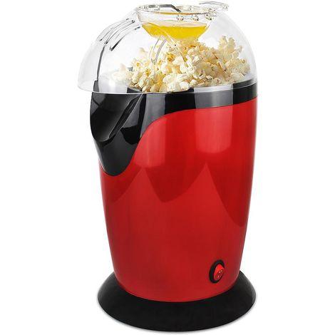 Appareil à Popcorn Eléctrique, Machine à Popcorn Maison, Rouge, Dimensions: 30,5 x 17 x 16,3 cm