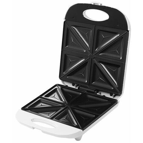 Appareil à sandwich 1000 W blanc appareil de cuisine panini toast électroménager