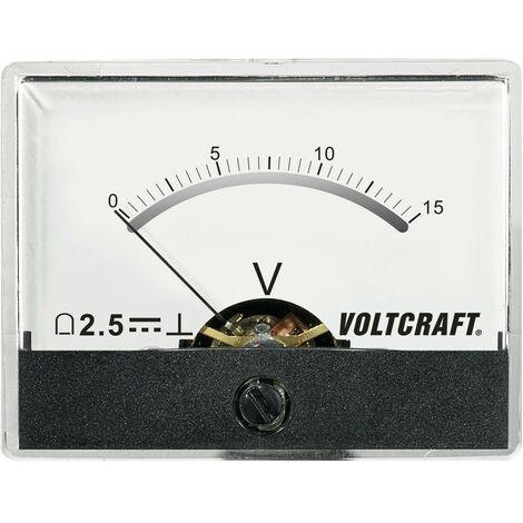 Appareil de mesure analogique à encastrer VOLTCRAFTAM-60X46