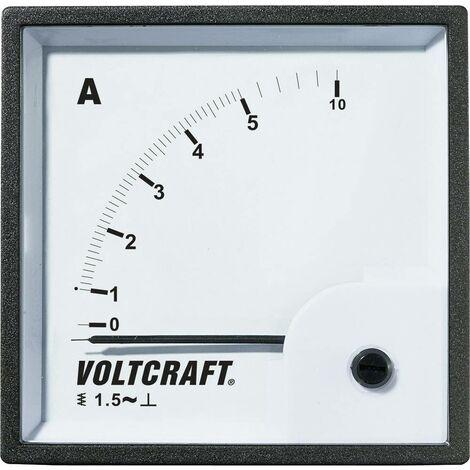 Appareil de mesure encastrable analogique VOLTCRAFT AM-72X72/5A