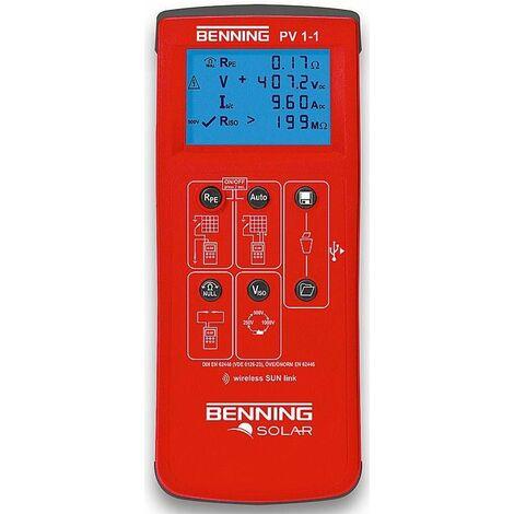 Appareil de mesure photovoltaique Benning PV1-1 Ref-N° 050421
