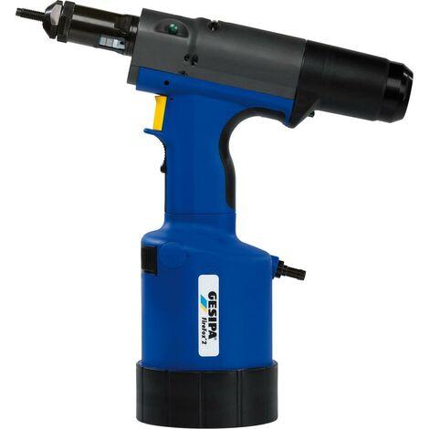Appareil pneumatique-hydraulique de positionnement de rivets aveugles FireFox® 2, Force d'assemblage : 18000 N, Pression de service 5-7 bar