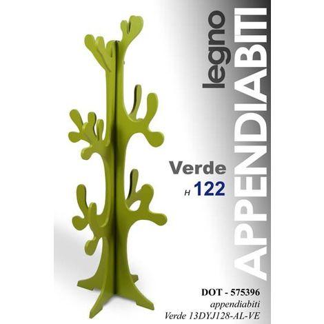 Attaccapanni appendiabito in legno modello albero; dimensioni cm42*42 h170; colore rosa