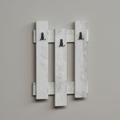 in legno a ganci Meister Holzleiste 262879 Appendiabiti da parete colore: bianco Nero