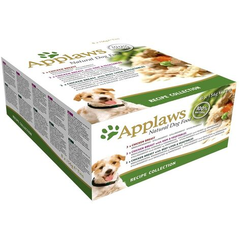Applaws Chien Recipe Collection Multipack - Boîtes, 8 x 156 g