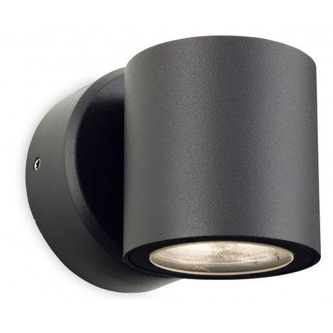 Applique 1 ampoule Alaska, graphite