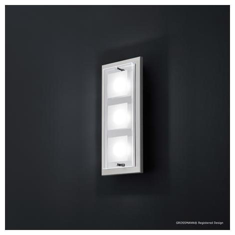 Applique 3 Lampes Led Grossmann Domino Nickel 57 272 063