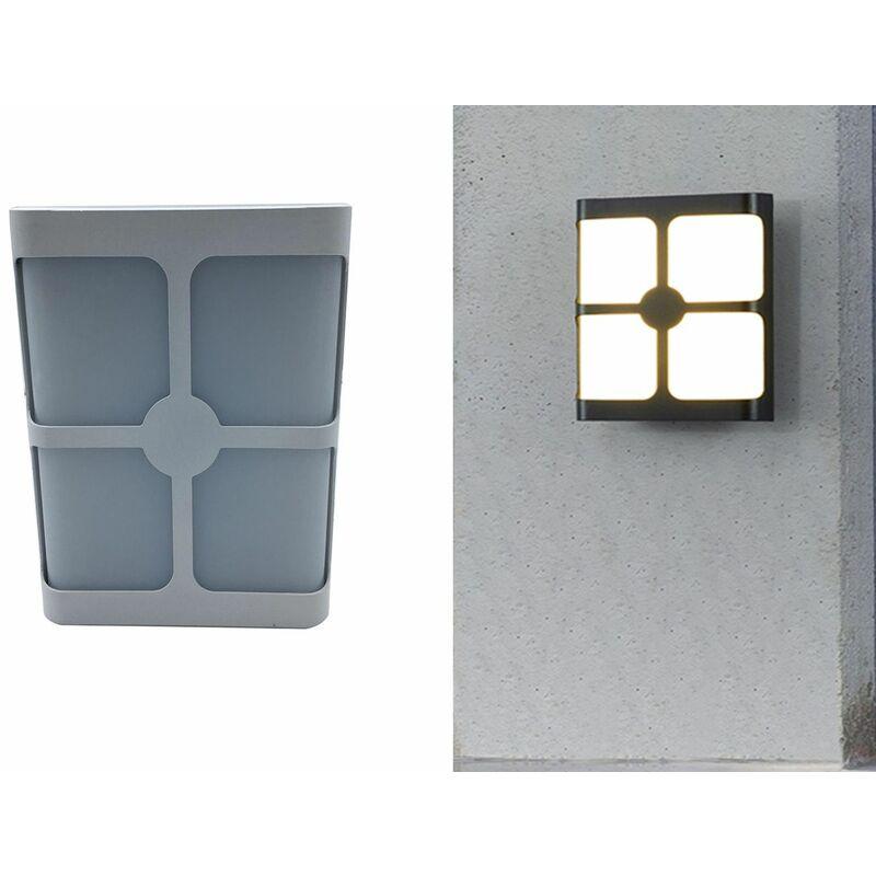 Applique a led 18w lampada parete grigio luce fredda 6000k FD-2