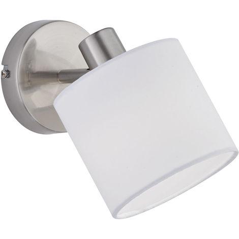 Applique à LED, abat-jour en textile, tache mobile, H 19 cm, TOMMY