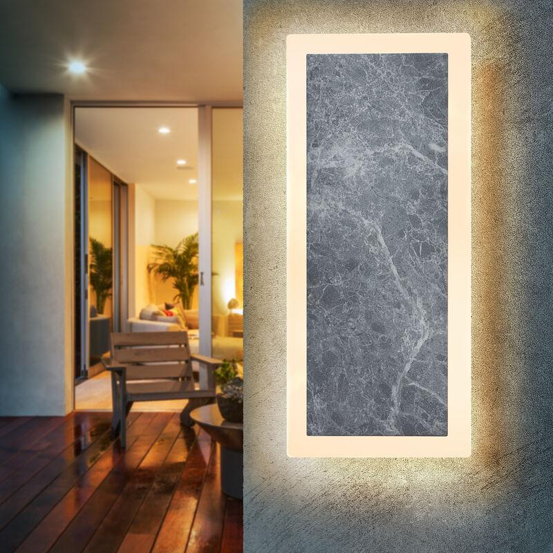 Applique a led effetto marmo applique faretto da esterno lampada da esterno esotec 201204