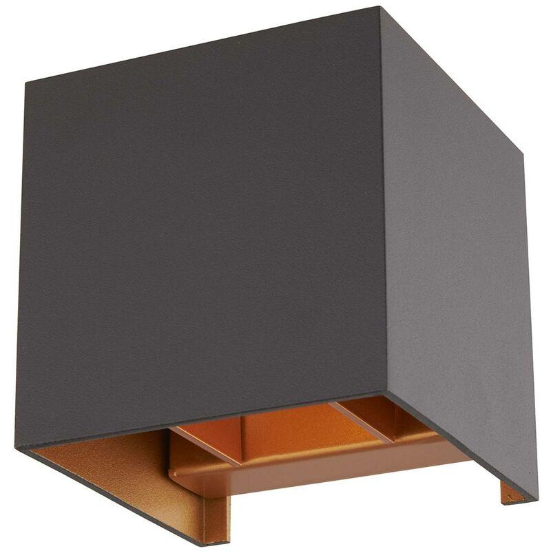 Applique a LED G9 Zuzana a cubo, nera e oro - ARCCHIO