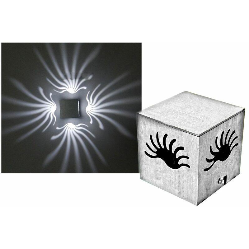 Applique a led in metallo 3w luce fredda parete cubo moderno faretto interno