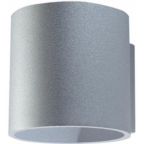 Applique à l'intérieur Lampe Up and Down Applique couloir Lampe Up and Down à l'intérieur, gris aluminium, 1x G9, PxH 10x10 cm, escalier de salon