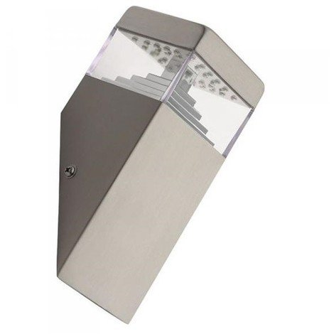 Applique A Parete In Acciaio 32 Led Lampada Da Esterno Giardino Terrazzo Fredda